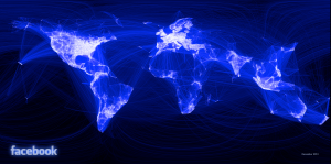 Visualisation of global Facebook reltionships